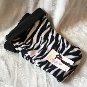 Zebra print fleece rain boot liners